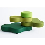 Zitsysteem TAPA Round I, stof, modulair, met draaimechanisme, B 800 x H 620 mm, groen/groen