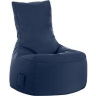 Zitzak swing scuba®, 100% polyester, wasbaar, B 650 x D 900 x H 950 mm, jeansblauw