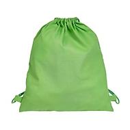 Zugbeutel Baumwolle, Hellgrün, Auswahl Werbeanbringung optional