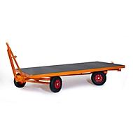 Zwaarlast-aanhangwagen, opleggerbesturing met 2 assen, volrubberen banden, draagvermogen 3000 kg