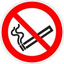 Panneau «Interdiction de fumer» sur film plastique