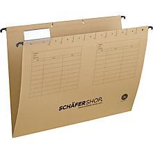 SCHÄFER SHOP dossiers suspendus en carton, série 25-11, fond V, natron et autres coloris, 25 pièces