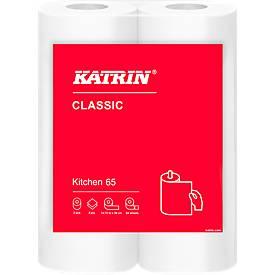 Keukenrol KATRIN Classic, wit, 2-laags, 64 vellen per rol, 28 rollen per karton