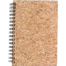 Notizbuch Candel, 50 Blatt liniert, edler Natur-Korkeinband, spiralgebunden