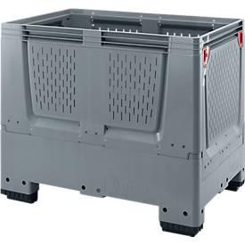 Palettenbox Big Box mit Lüftungsschlitzen, klappbar, Kunststoff, 120 x 80 x 100cm