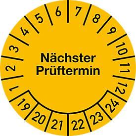 Prüfplakette, Nächster Prüftermin (2019-2024), ø 20 mm, 100 Stück