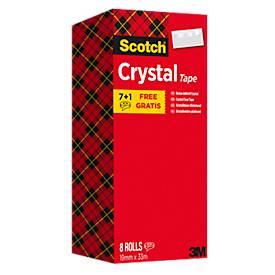 Sparset Klebeband Scotch® Crystal, 8 Rollen, L 33 m x B 19 mm, Ø 26 mm