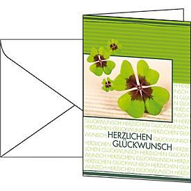 """Image of 10 Glückwunsch-Karten """"Fortune"""" + 10 Umschläge"""