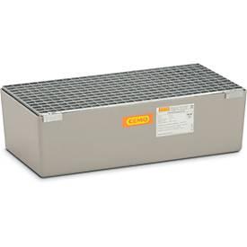 Image of 139227 - GFK-Auffangwanne 65 CEMO, 65 l Auffangvolumen, B 820 x T 410 x H 230 mm, mit Gitterrost