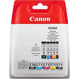 2 cartouche d'encre Canon PGI-570 PGBK/CLI-571 noir, noir pigmenté, cyan, magenta, jaune gris en