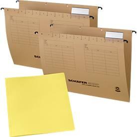 2 dozen hangmappen  + Gratis: 1 pak gele documentenmappen