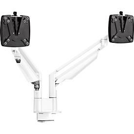2-fach-Monitorarm Novus CLU Duo C, bis 27″, Tischhalterung, neig/schwenk/höhenverstellbar, weiß