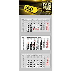 3 Block-Wandkalender Clever 3, inkl. 4c-Digitaldruck, international