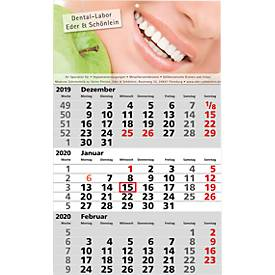 3-Monats-Kalender, internationales Kalendarium
