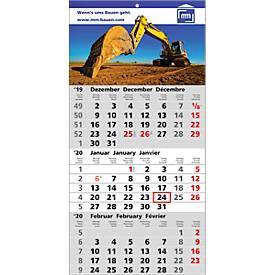 3-Monats-Kalender Smart, 4c-Digitaldruck inkl. Grundkosten GRATIS!