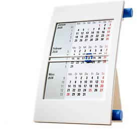 3-Monats-Kalender, weiß/blau