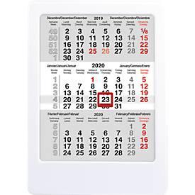 3-Monats-Tischkalender MINI mal Drei, international, für 2 Jahre, weiß