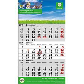 3-Monats-Wandkalender, 1-sprachig