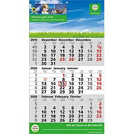 3-Monats-Wandkalender, 3-sprachig D, GB, F