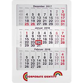 3-Monats-Wandkalender MAXI mal Drei