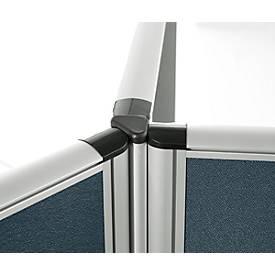 3 x 120° Winkelverkettung Schallschutz System 40, für Stellwandhöhen H 1200 mm