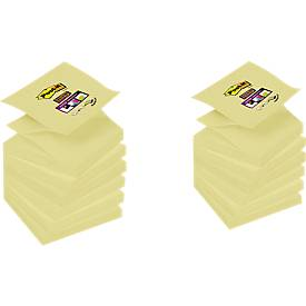 3M Post-it® Haftnotizen SuperSticky Z-Notes R330SP12, 76x76 mm, 6 Blöcke + 6 Blöcke GRATIS