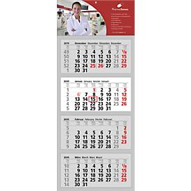 4 Block-Wandkalender Clever 4, inkl. 4c-Digitaldruck, international