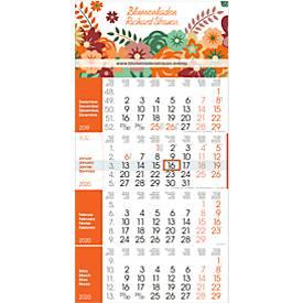 4-Monats-Wandkalender Rainbow