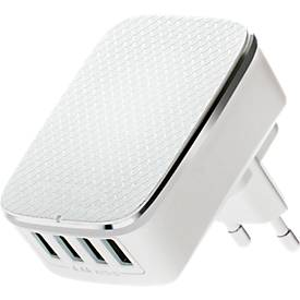 4-Port-USB Travel Charger, Universalladegerät, Smart Control