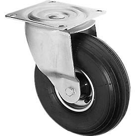 4 Räder mit stoßdämpfenden Lufreifen, ø 200 mm