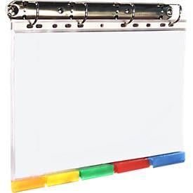 4-voudige ringband, 5 kleurregistermappen A4, div. kleuren