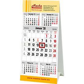 5-Monats-Tischkalender, inkl. 1c-Druck, aufgezogener Datumsschieber, 96 x 205 mm