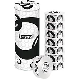 8 x tesafilm® special edition 33m, 19mm kristallklar in Black&White-Dose