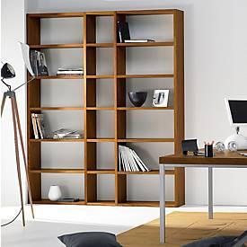 Aanbouwelement Pombal, voor boekenkast Pombal, B 400 x D 370 mm, notendecor