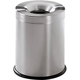 Abfallbehälter Fire Ex, Edelstahl, Inhalt 15 bis 75 Liter, für Innenbereich