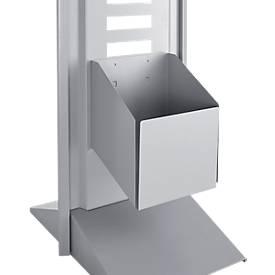 Abfallbehälter für modulare Hygienestation Basic, B 210 x T 190 x H 200 mm, Stahl, weißaluminium RAL 9006