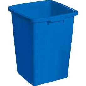 Image of Abfallbehälter ohne Deckel, 90 Liter, blau