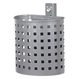 Abfallbehälter aus Stahlblech, gelocht