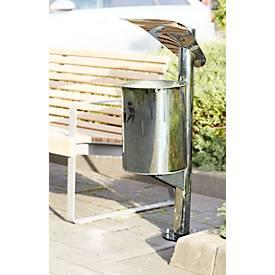 Abfallbehälter mit Dach, 30 l, Edelstahl