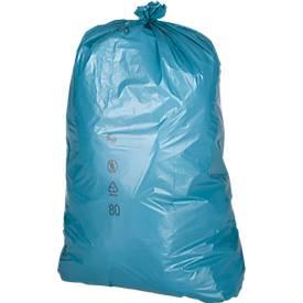 Abfallsäcke Premium, Material LDPE, blau, 120 Liter, 250 Stück