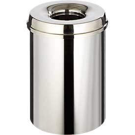 Abfallsammler für Innenanwendung, 30 L, selbstlöschend