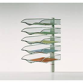 Image of Ablagekorb CopySwinger, DIN A4, 5 Fächer, lichtgrau
