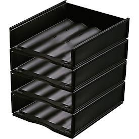 Ablagekorb, DIN A4, Polystyrol, 4 Stück
