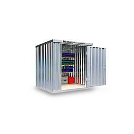 Abri à matériaux MC 1200, galvanisé, livré monté