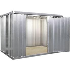 Abri à matériaux MC 1400, galvanisé, livré monté