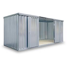 Abri à matériaux MC 1500, galvanisé, livré démonté