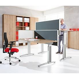 Achterwand tafelscheiding Schalschutz System 40, in hoogte verstelbaar, b 800-1800 x h 600 mm, grijs