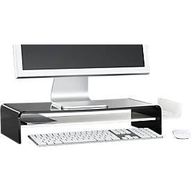 Acryl-Monitorständer, U-Form, schwarz/weiß