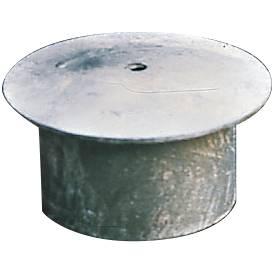 Afdekkap, voor versperringspaal met bodemkoker
