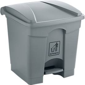 Afvalbak, 30 l, grijs